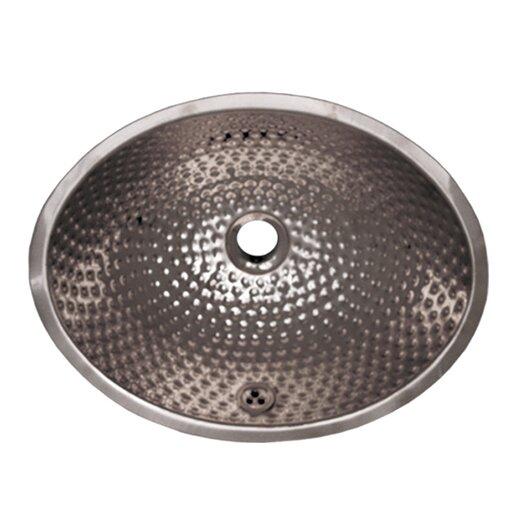 Whitehaus Collection Decorative Undermount Oval Ball Pein Bathroom Sink