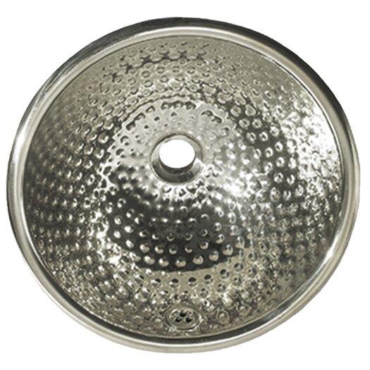 Whitehaus Collection Decorative Round Ball Pein Bathroom Sink