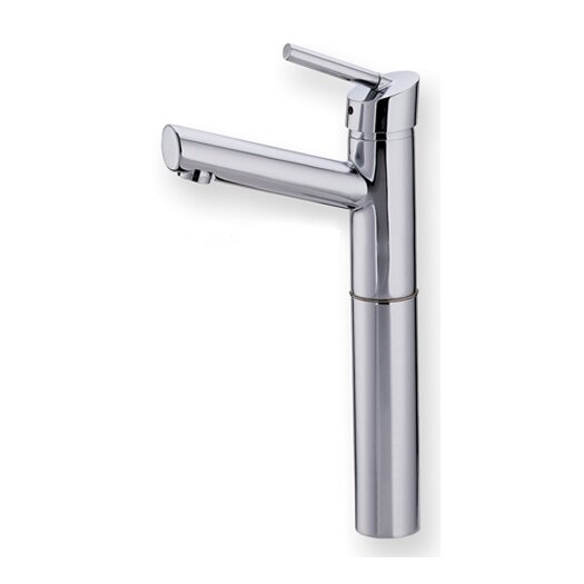 Whitehaus Collection Centurion Single Hole Elevated Bathroom Faucet with Single Handle