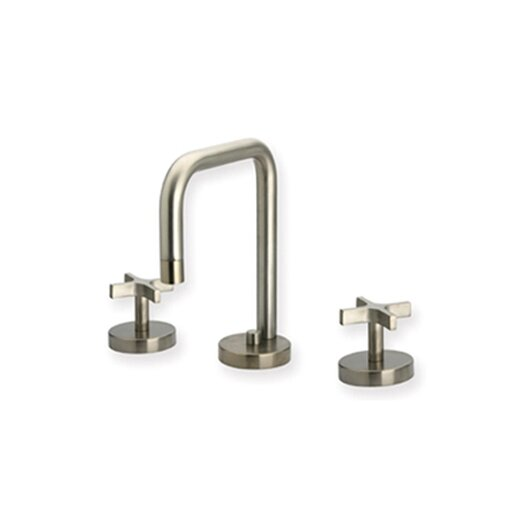 Whitehaus Collection Metrohaus Widespread Bathroom Faucet with Double Cross Handles