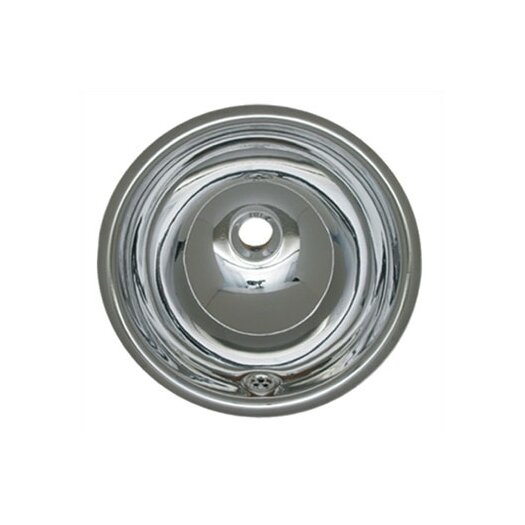 Whitehaus Collection Decorative Smooth Round Bathroom Sink