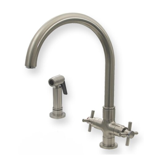 Whitehaus Collection Luxe Two Handle Single Hole Kitchen Faucet