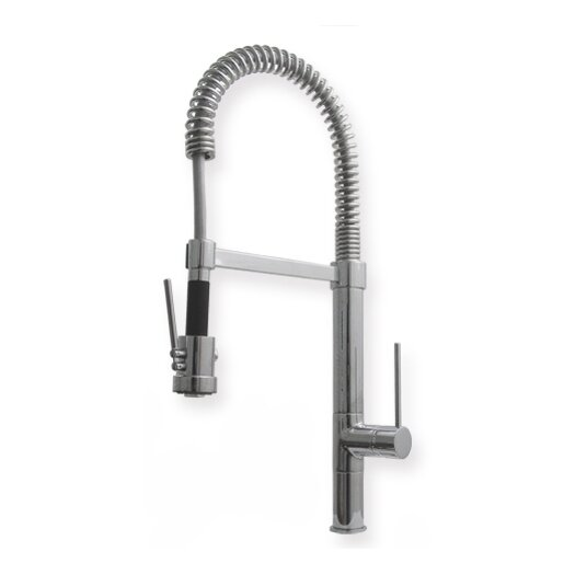 "Whitehaus Collection Metrohaus Commercial 6.75"" Single Handle Single Hole Bar Faucet with Long Handle"