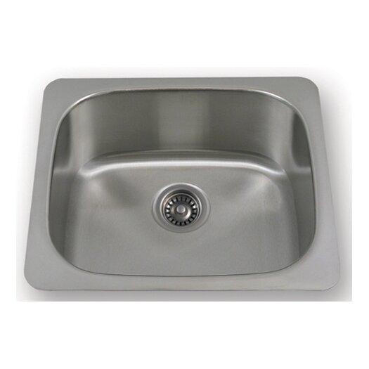 "Whitehaus Collection New England 21"" x 17.88"" Undermount Large Semi Square Kitchen Sink"