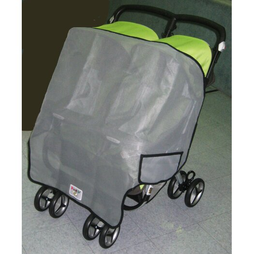 Sasha's Kiddie Products Peg Perego Aria Twin, and Aria Twin 60/40 Twin Side by Side Stroller Sun, Wind and Insect Cover