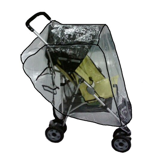 Sasha's Kiddie Products Small Lightweight Single Stroller Rain and Wind Cover