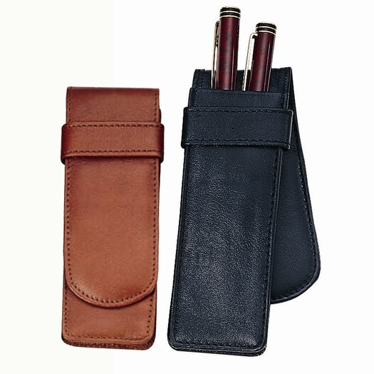Royce Leather Royce Leather Fountain Pen Double Pen Carrying Case in Genuine Leather