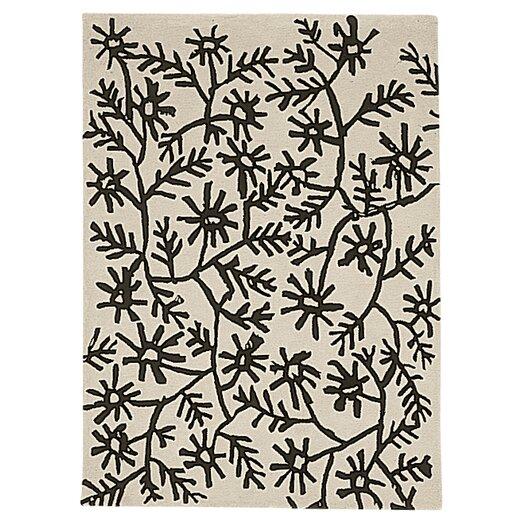 Nanimarquina Black On White Flores Area Rug