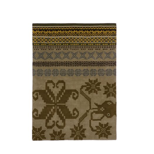 Folk Brown Area Rug