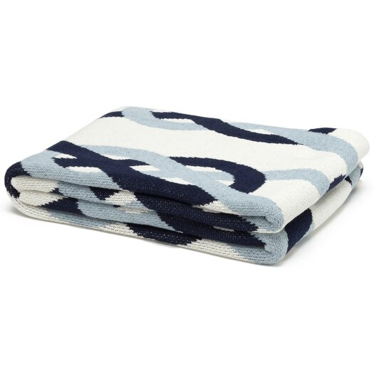 In2Green Eco Designer Sailor Knots Throw Blanket