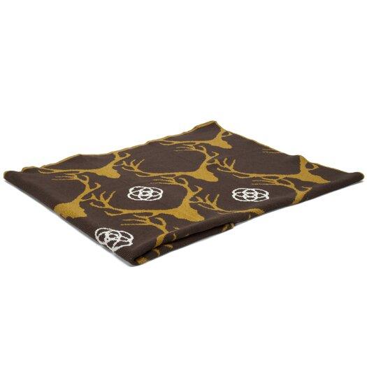 In2Green Eco Designer Stag Longhorn Throw Blanket