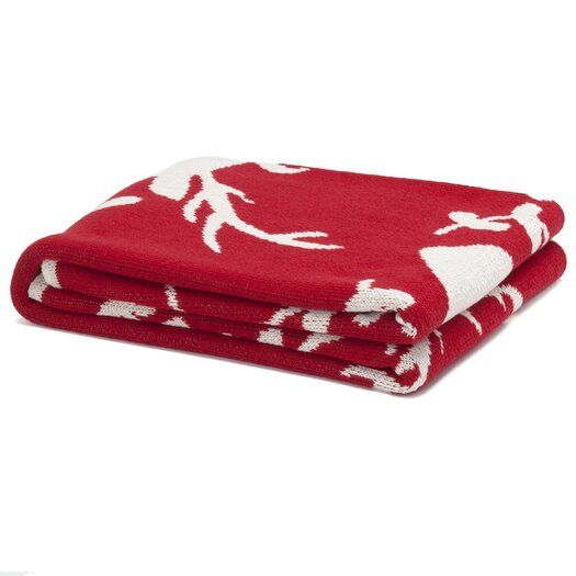 In2Green Eco Designer Stag Silhouette Throw Blanket