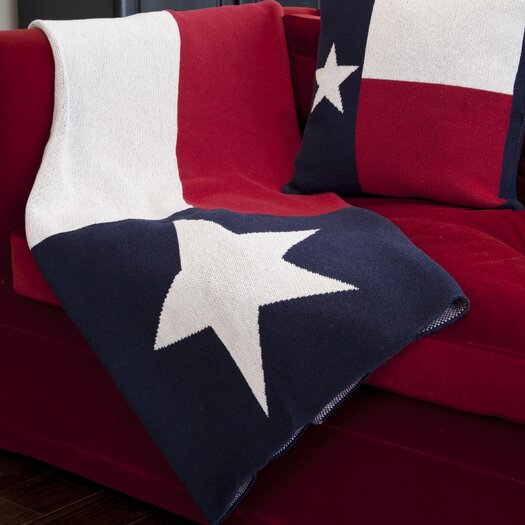 In2Green Eco Texas Flag Cotton Yarn Throw