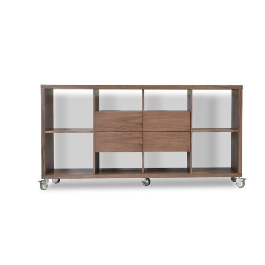 "sohoConcept Malta 34.5"" Bookcase with Drawers"