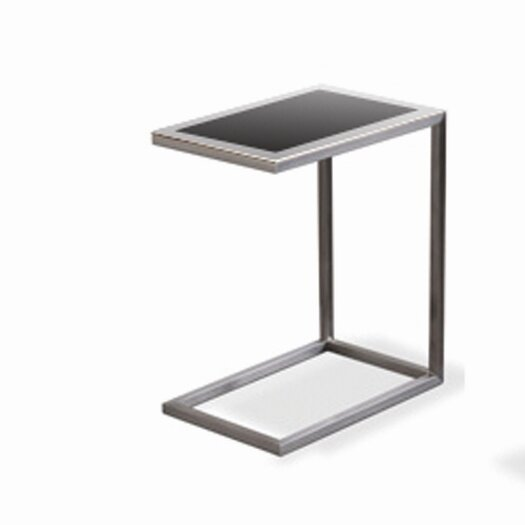 sohoConcept Alfa Black Glass End Table