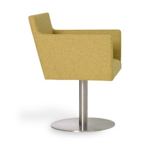 Harput Round Swivel Arm Chair