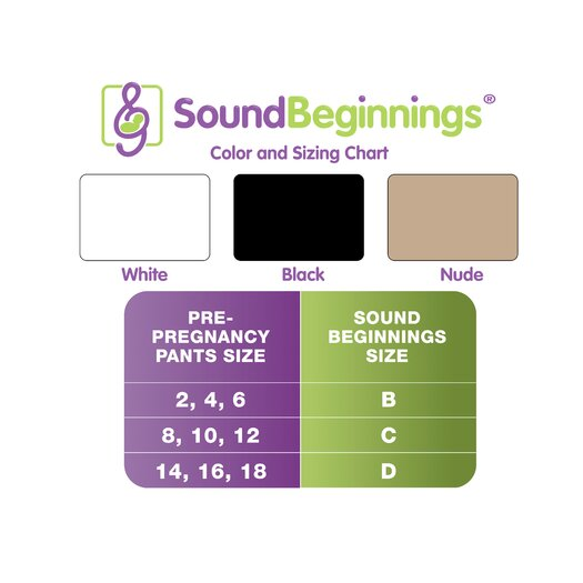Sound Beginnings Medium Pre-Natal Sound Delivery Device in White