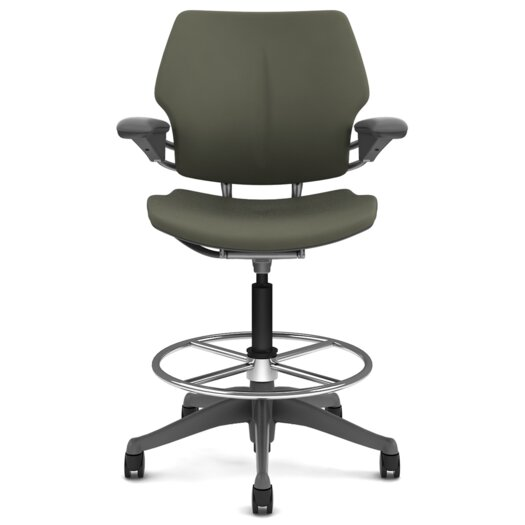 Humanscale Freedom Height-Adjustable Drafting Chair with Footring