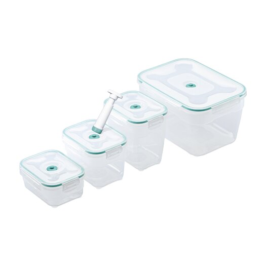 Zevro Vac 'n Save 9 piece Vacuum Rectangular Container Set
