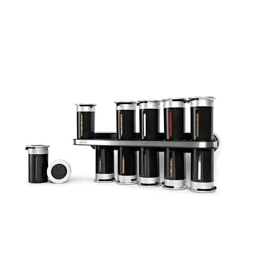 Zevro Zero Gravity Wall Mount Magnetic 12 Piece Spice Set
