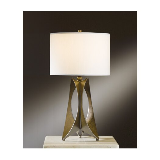 "Hubbardton Forge Moreau 1 Light 20.6"" H Table Lamp with Drum Shade"
