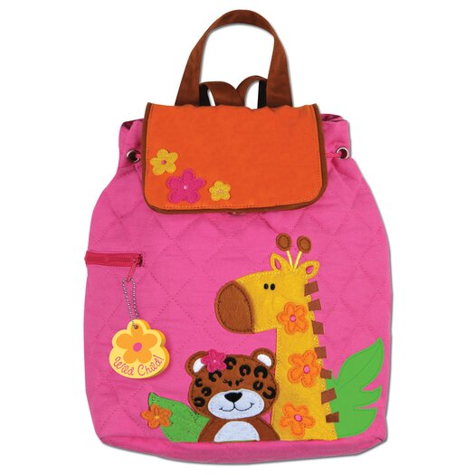 Stephen Joseph Girl Zoo Quilted Backpack