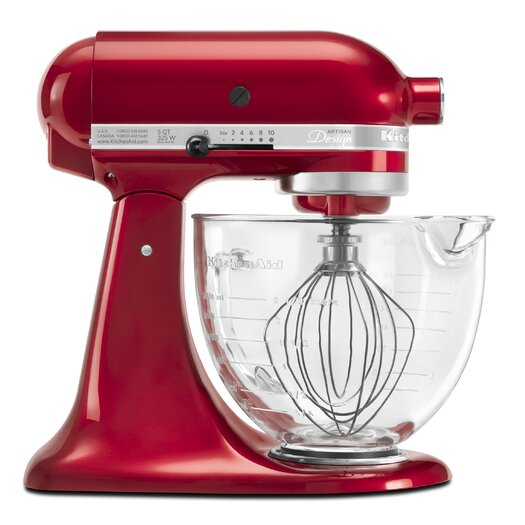 KitchenAid Artisan Design Series 5 Qt. Stand Mixer with Glass Bowl
