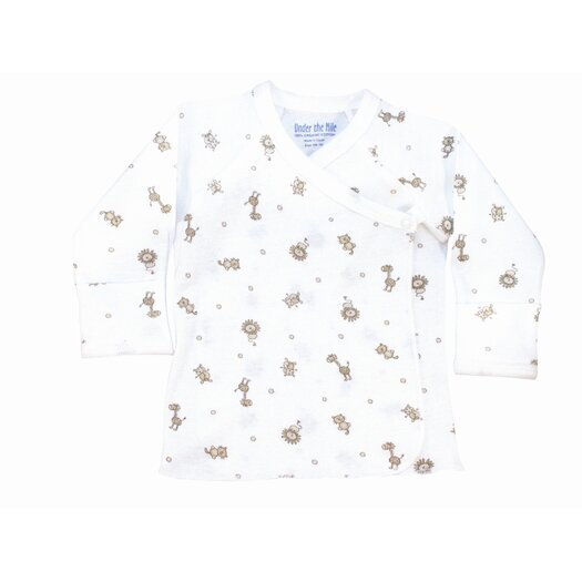 Under the Nile Nature's Nursery Long Sleeve Side Snap Shirt in Animal Print