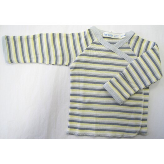 Under the Nile Twenty-Four Seven Long Sleeve Side Snap Shirt in Boy Stripes