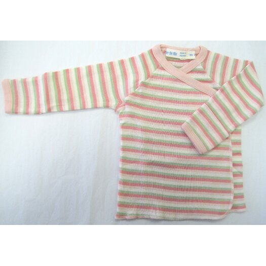 Under the Nile Twenty-Four Seven Long Sleeve Side Snap Shirt in Pink Stripes