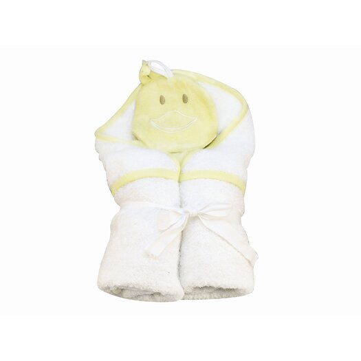 Under the Nile Bath Time Favorites Hooded Towel and Duck Wash Cloth Set
