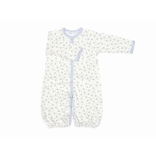 Under the Nile Twenty-Four Seven Convertible Baggie Baby Clothing in Blue Dots