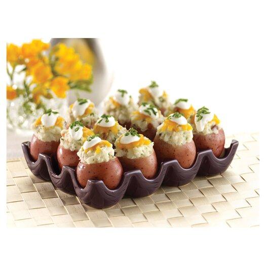 "Rachael Ray Stoneware 12 Cup Egg Tray ""Sittin' Pretty"""