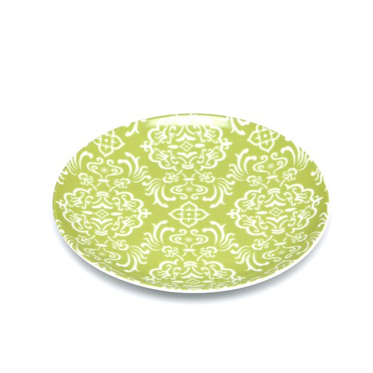"Rachael Ray Curly-Q Green 8"" Salad & Dessert Plate"