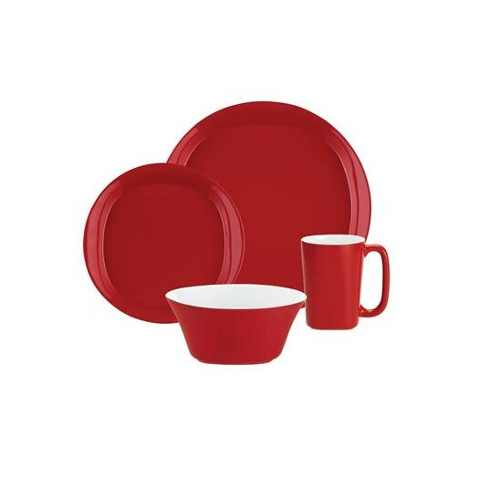 Rachael Ray Round and Square Dinnerware 4-Piece Place Setting