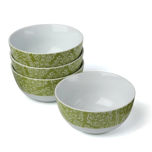 Rachael Ray Curly-Q Green 18 oz. Cereal Bowl