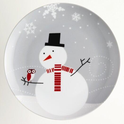 """Rachael Ray Little Hoot & the Snowman 9.5"""" Dessert Plate"""