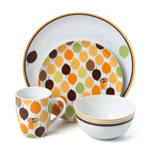 Rachael Ray Little Hoot 16 Piece Dinnerware Set