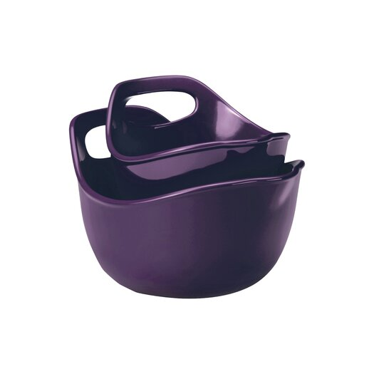 Rachael Ray Stoneware 2 Piece Mixing Bowl Set