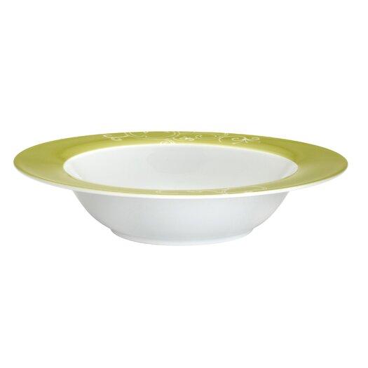 Rachael Ray Curly-Q Green 12 oz. Soup/Pasta Bowl