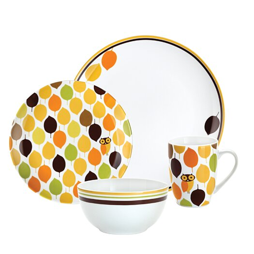 Rachael Ray Little Hoot 4-Piece Place Setting