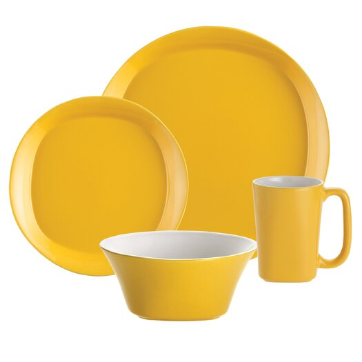 Rachael Ray Round & Square 16 Piece Dinnerware Set