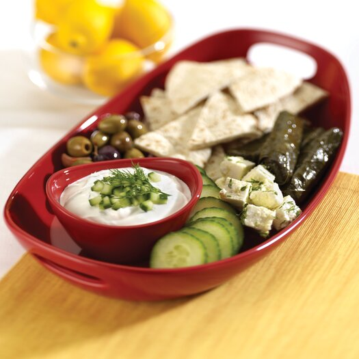 Rachael Ray Stoneware Chip and Dip Tray