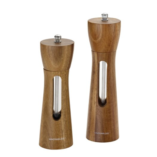 Rachael Ray Tools and Gadgets 2 Piece Acacia Salt and Pepper Grinder Set