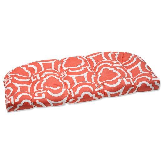 Pillow Perfect Carmody Wicker Loveseat Cushion