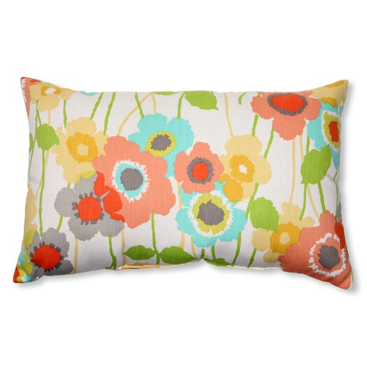 Pillow Perfect Pic-A-Poppy Lumbar Pillow
