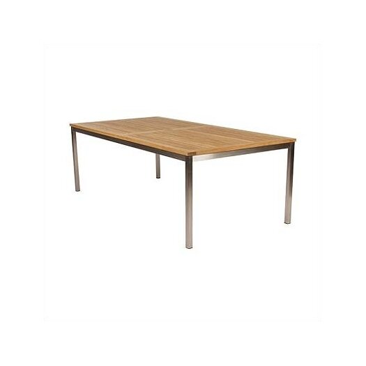 Barlow Tyrie Teak Equinox Stainless and Teak Side Table