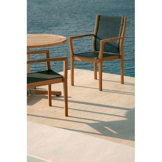 Barlow Tyrie Teak Horizon Stacking Lounge Arm Chair