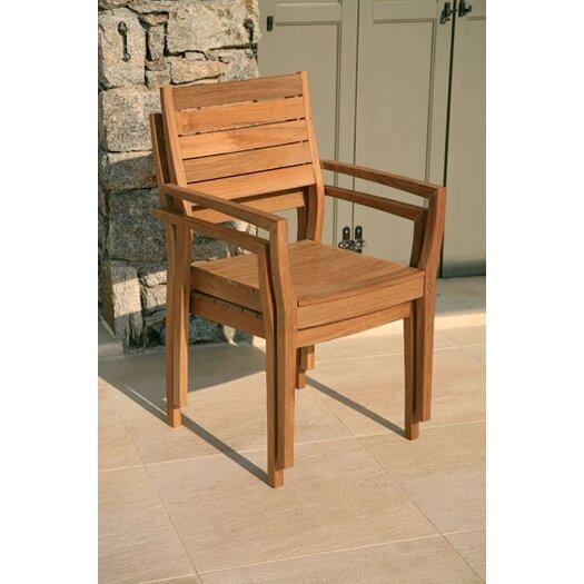 Barlow Tyrie Teak Horizon Teak Stacking Lounge Chair