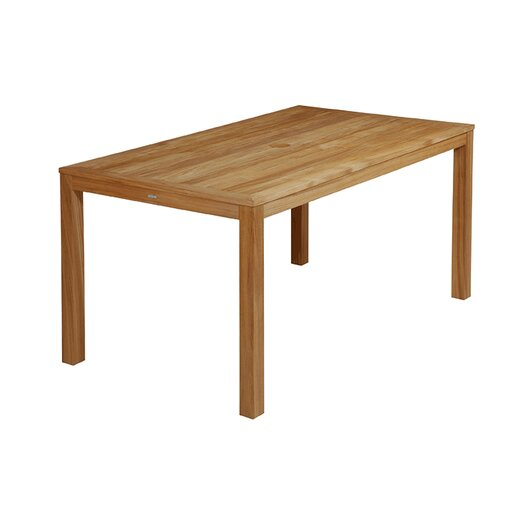 Linear Rectangular Teak Dining Table